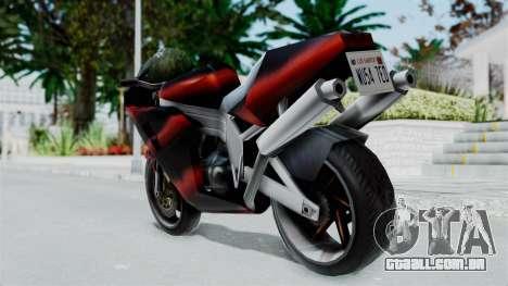 FCR-900 Custom para GTA San Andreas esquerda vista