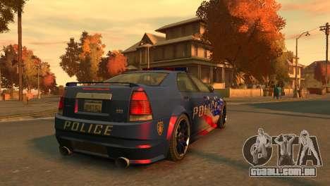 Albany Police Stinger para GTA 4 traseira esquerda vista