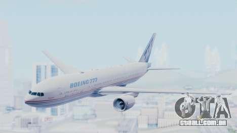 Boeing 777-200 Prototype para GTA San Andreas traseira esquerda vista