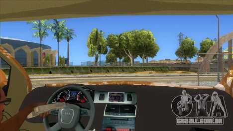 Audi Q7 para GTA San Andreas vista interior
