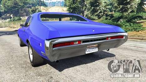 GTA 5 Buick Skylark GSX 1970 traseira vista lateral esquerda