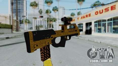 GTA 5 Online Lowriders DLC Assault SMG para GTA San Andreas terceira tela