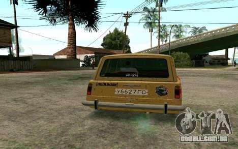 VAZ 2102 BK para GTA San Andreas traseira esquerda vista