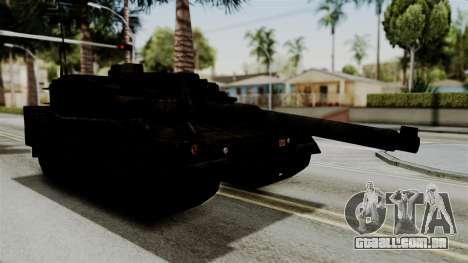 Point Blank Black Panther Rusty para GTA San Andreas traseira esquerda vista