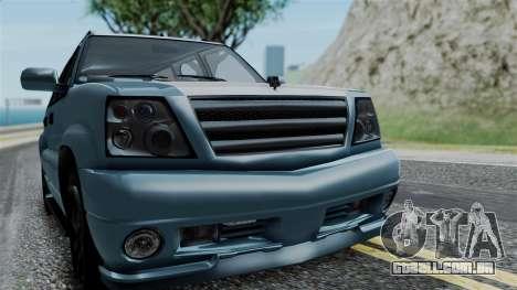 GTA 5 Albany Cavalcade v1 IVF para GTA San Andreas vista interior