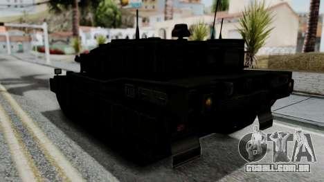 Point Blank Black Panther Woodland IVF para GTA San Andreas vista direita