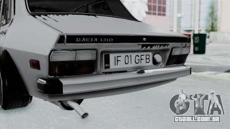 Dacia 1300 Shark (GFB V4) para GTA San Andreas vista traseira