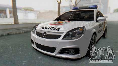 Opel Vectra 2005 Policia para GTA San Andreas