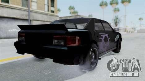Hotring Sultan para GTA San Andreas traseira esquerda vista