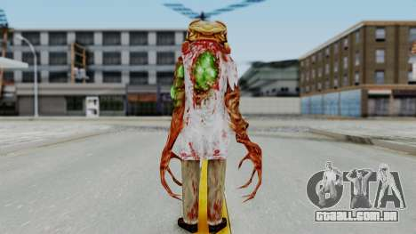 Zombie Scientist Skin from Half Life para GTA San Andreas terceira tela