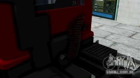 FAP Kamion Stock para GTA San Andreas traseira esquerda vista