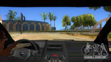 Fiat Panda V3 para GTA San Andreas vista interior
