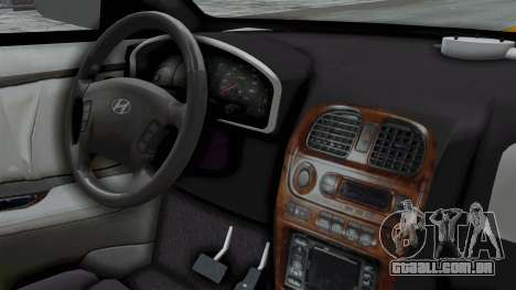Hyundai Accent Essential Garage para GTA San Andreas vista direita