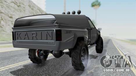 GTA 5 Karin Rebel 4x4 IVF para GTA San Andreas esquerda vista