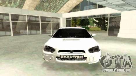 Subaru Impreza WRX STi Civil para GTA San Andreas vista direita