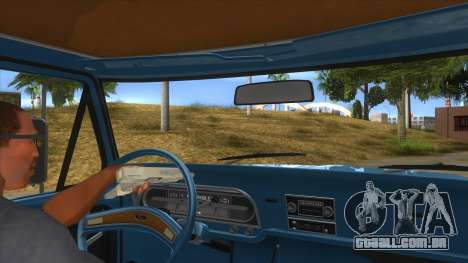 Ford F-100 1970 para GTA San Andreas vista interior