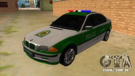 BMW Iranian Police para GTA San Andreas