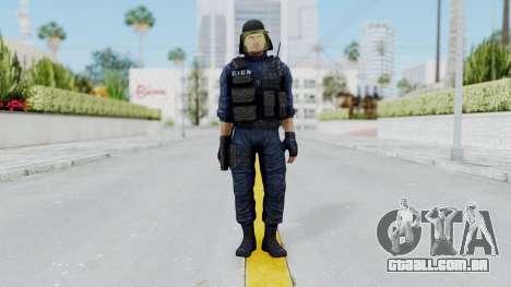 GIGN 1 No Mask from CSO2 para GTA San Andreas segunda tela
