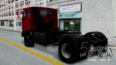 FAP Kamion Stock para GTA San Andreas esquerda vista