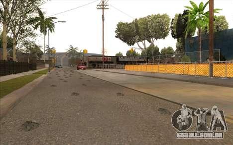 O trabalho de reparação Grove Street para GTA San Andreas sexta tela