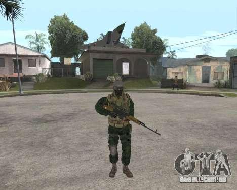 O exército russo Skin Pack para GTA San Andreas sexta tela