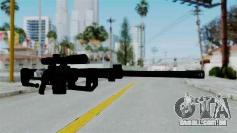 M2000 CheyTac Intervention without Stands para GTA San Andreas segunda tela