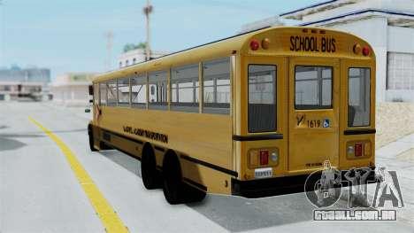 Bus from Life is Strange para GTA San Andreas esquerda vista