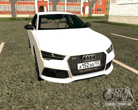 Audi RS7 Quattro para GTA San Andreas esquerda vista