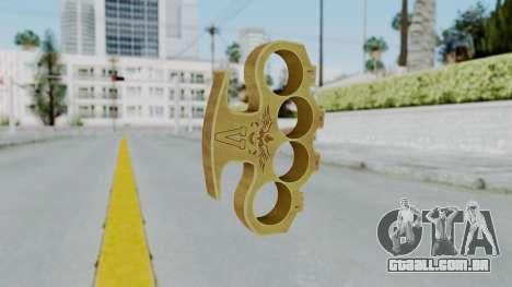 The Vagos Knuckle Dusters from Ill GG Part 2 para GTA San Andreas segunda tela