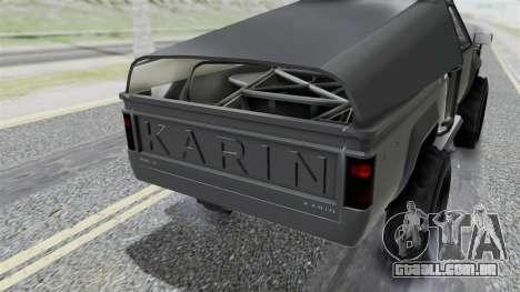 GTA 5 Karin Rebel 4x4 IVF para GTA San Andreas vista interior