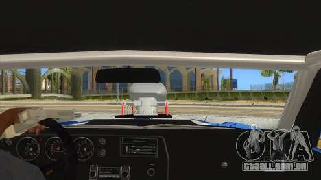 1970 Chevrolet Chevelle SS Drag para GTA San Andreas vista interior