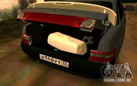 VAZ 2110 v. 2.0 para GTA San Andreas traseira esquerda vista