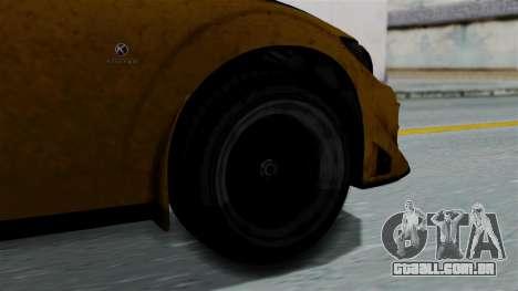 GTA 5 Karin Sultan RS Rally PJ para GTA San Andreas traseira esquerda vista