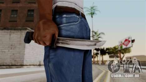 Batman Arkham City - Knife para GTA San Andreas terceira tela