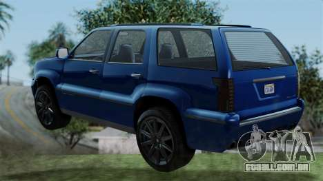 GTA 5 Albany Cavalcade v2 IVF para GTA San Andreas esquerda vista