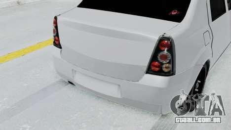 Dacia Logan para GTA San Andreas vista traseira