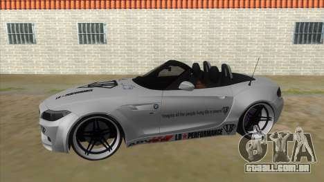 BMW Z4 Liberty Walk Performance Livery para GTA San Andreas esquerda vista