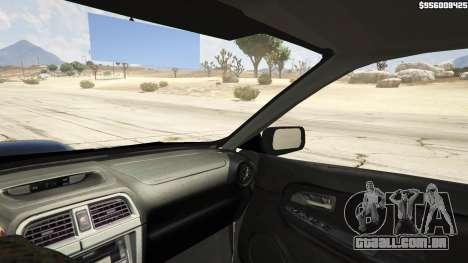 GTA 5 2006 Subaru Impreza WRX STI JDM traseira direita vista lateral