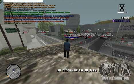 WH Nick Name para GTA San Andreas segunda tela