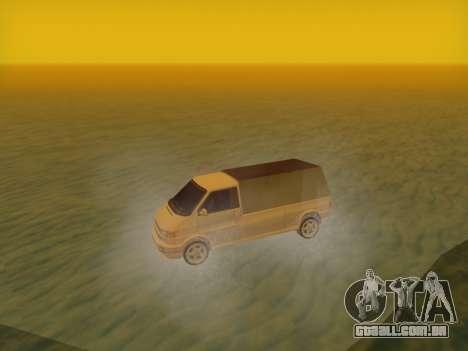 Volkswagen T4 Caravelle 35 Xícara (1997) [Вездех para GTA San Andreas traseira esquerda vista