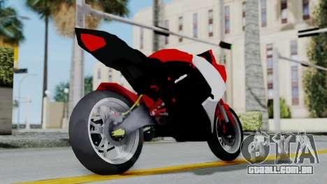 Yamaha YZF-R25 YoungMachine Concept para GTA San Andreas vista direita