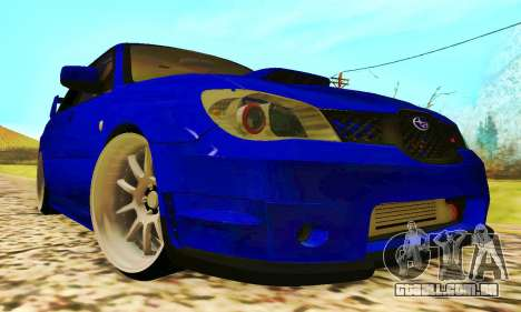 Subaru Impreza WRX STI Lisa para GTA San Andreas esquerda vista