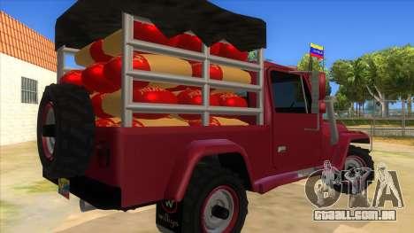 Jeep Pick Up Stylo Colombia para GTA San Andreas vista direita