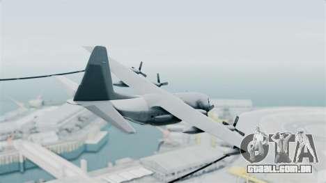 KC-130 Air Tanker para GTA San Andreas esquerda vista