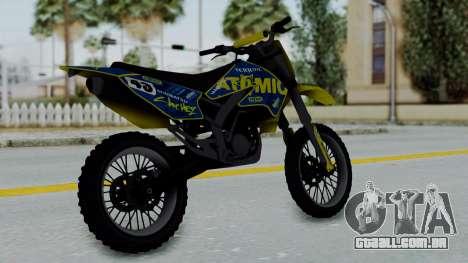GTA 5 Atomic Sanchez para GTA San Andreas esquerda vista