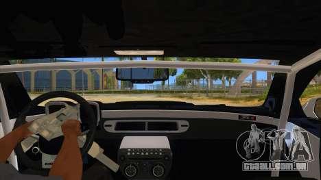 2012 Chevrolet Camaro ZL1 Liberty Walk para GTA San Andreas vista interior