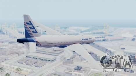 Boeing 777-200 Prototype para GTA San Andreas esquerda vista