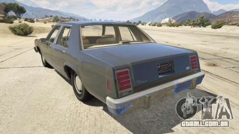 GTA 5 1987 Ford LTD Crown Victoria traseira vista lateral esquerda