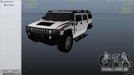GTA 5 Hummer H2 vista lateral direita