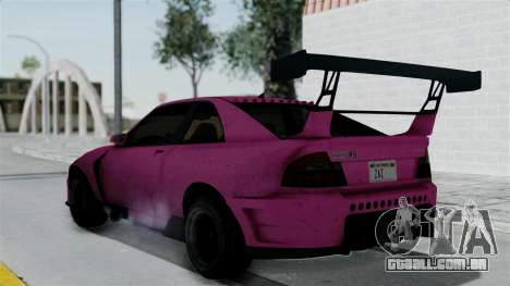GTA 5 Karin Sultan RS Drift Double Spoiler para GTA San Andreas esquerda vista